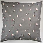 Grey Little Robins Cushion Cover 16""